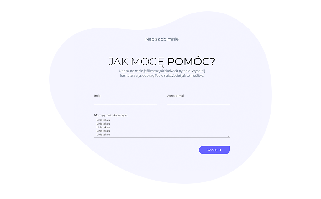 rozwijany formularz kontaktowy