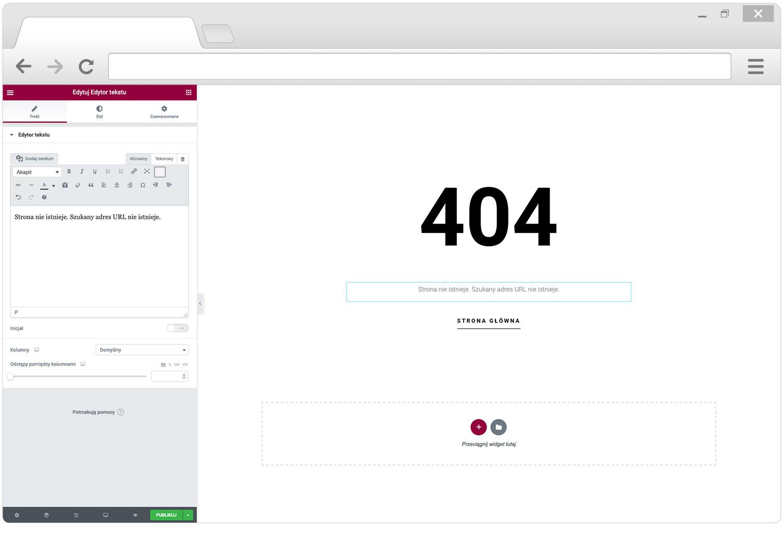 Własna strona 404